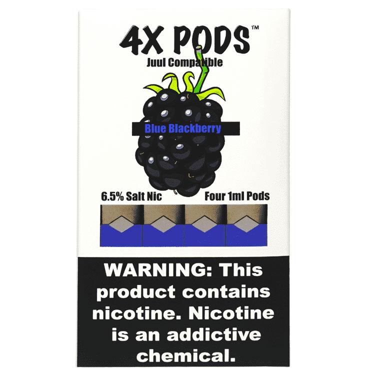 4X Pods Blue Blackberry for Juul 4pcs