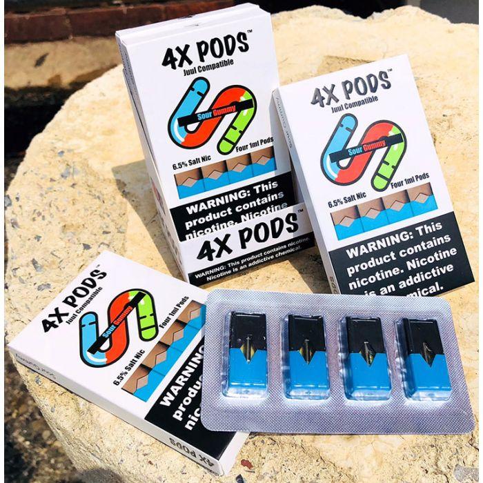4X Pods Sour Gummy for Juul 4pcs