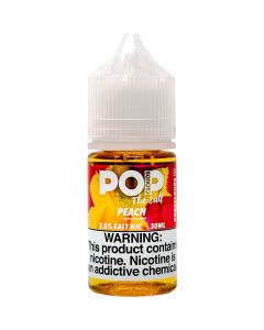 POP CLOUDS THE SALT NICOTINE PEACH
