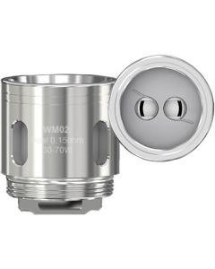 WM02 dual head 0.15ohm coils 5ct/pk