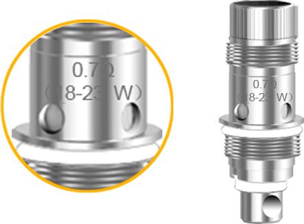 0.7Ω 18-23W coil (Pre-installed)