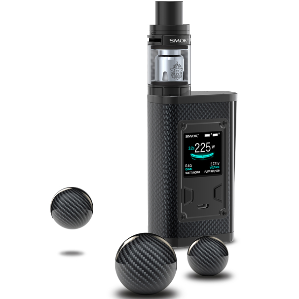 SMOK Majesty Kit with TFV8 X-Baby Tank Resin and Carbon Fiber colors