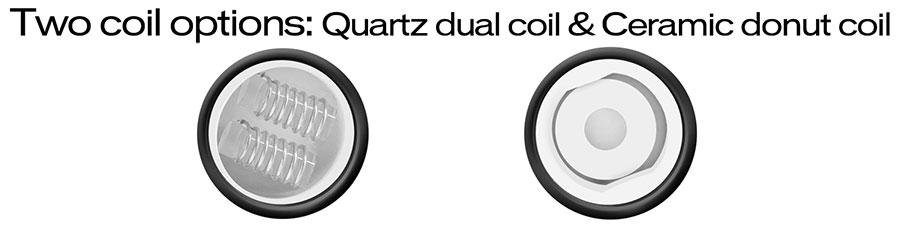 quartz dual coil and ceramic donut coil