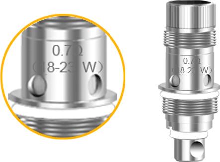 Aspire Zelos Coil 0.7Ω 18-23W coil (Pre-installed)