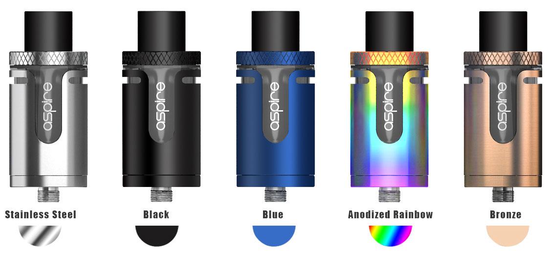 Stainless Steel, Black, Blue, Anodized Rainbow, Bronze