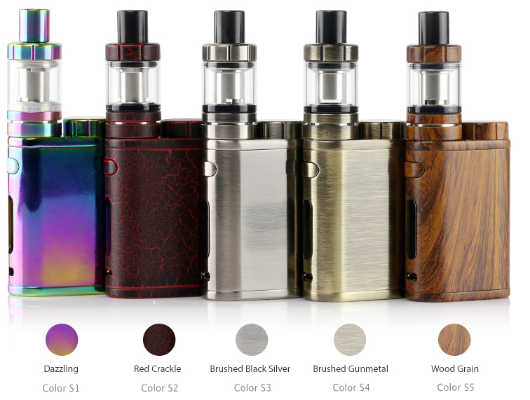 Eleaf iStick Pico Mod in Dazzling, red crackle, brushed black silver, brushed gunmetal, wood grain