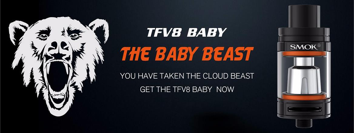 TFV8 the baby beast. You have taken the cloud beast, get the tfv8 baby now