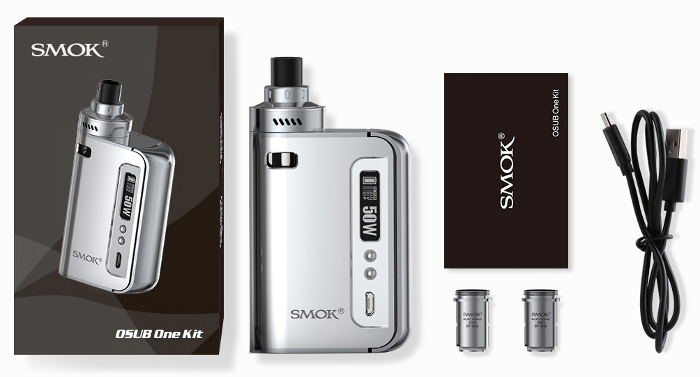 Shows what is included in the Smok OSUB One kit