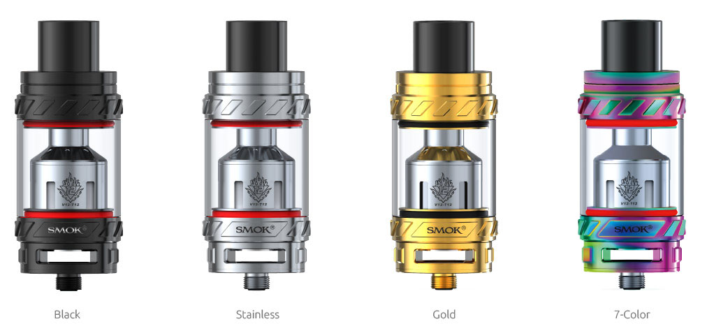 TFV12 colors available in: Black, Stainless, Gold and 7-Color