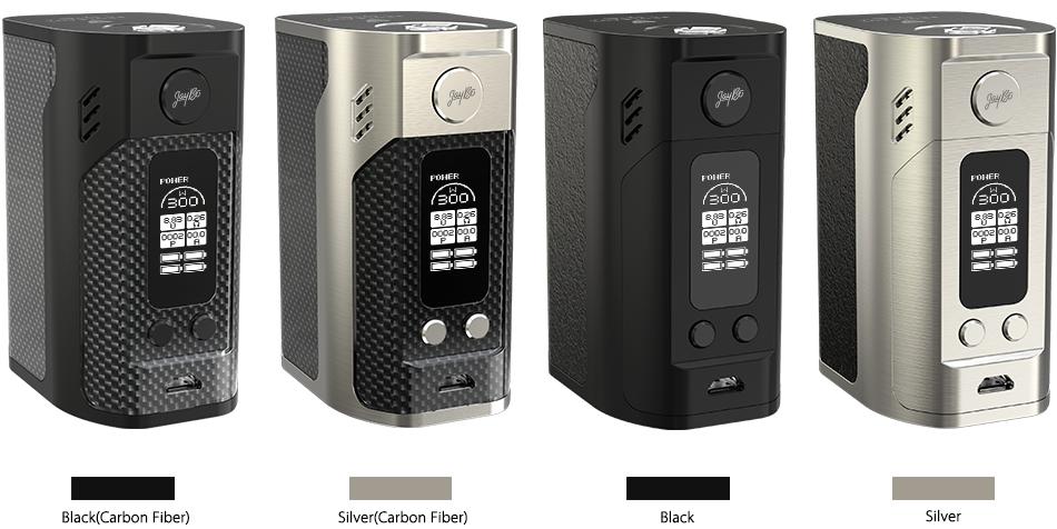 Wismec Reuleaux RX300 Black(Carbon Fiber), Silver(Carbon Fiber), Black, Silver