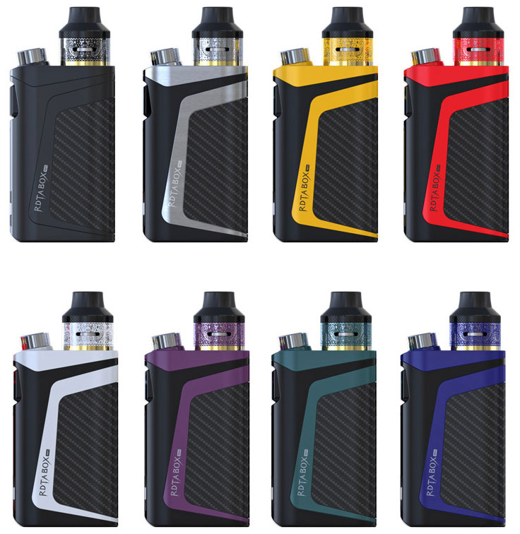 IJOY RDTA BOX MINI Available Colors: Black, Silver, Yellow, Red, White, Purple, Teal and Blue
