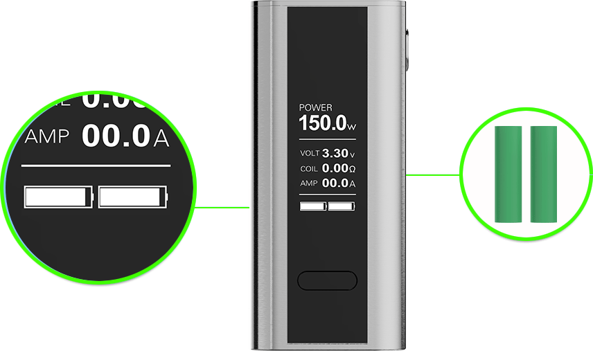 OzoneSmoke 150W Output and Dual Battery Bar